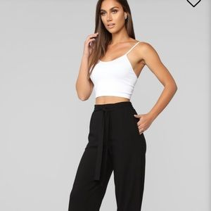 You're Worth My Time Tie Waist Pants - Large